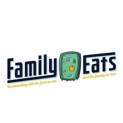 Family design with the title 'Family Eats Website Brand Logo'