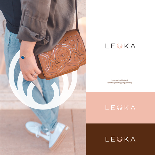 Lifestyle brand with the title 'Simple and Clean Logo for Leoka'