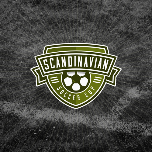 Soccer design with the title 'Scandinavian Soccer cup'