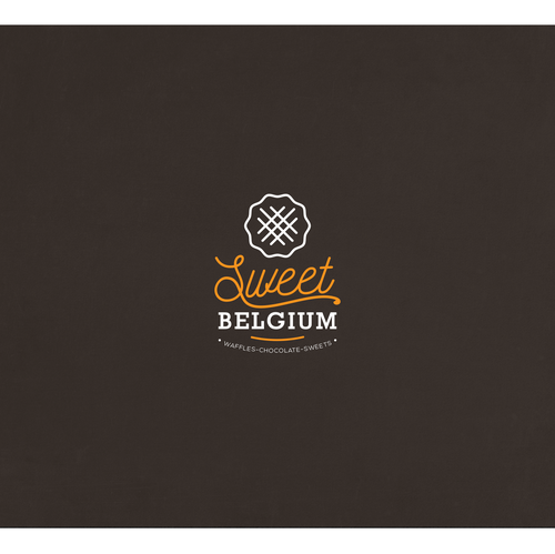 Waffle design with the title 'waffles logo design'