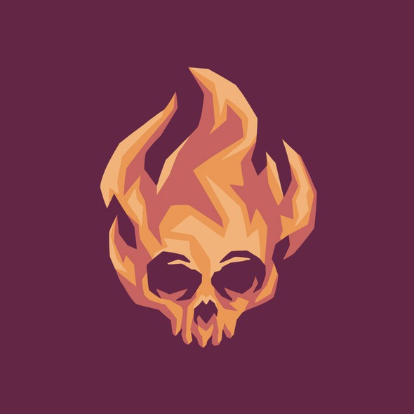 Design with the title 'Fire Skull Gaming Studio'