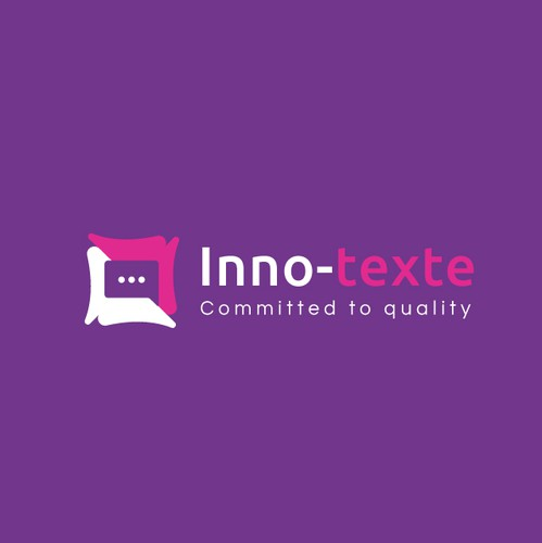 Laptop logo with the title 'Inno-texte'