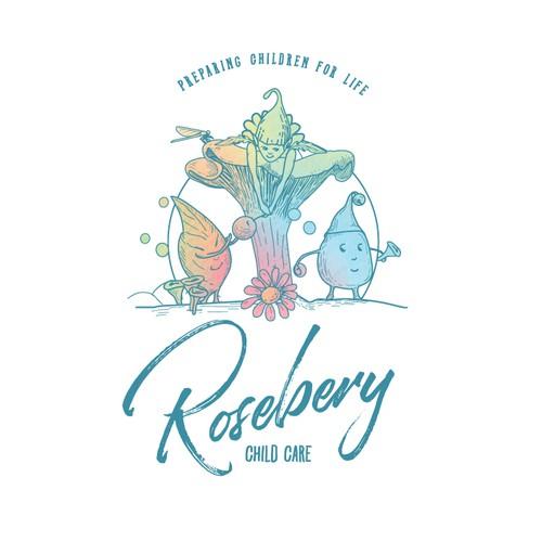 Mushroom design with the title 'Rosebery'