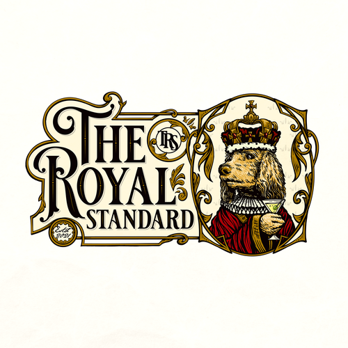 Cocktail logo with the title 'The Royal Standard'