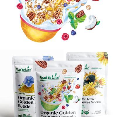 Cruncy格兰诺拉麦片包装设计