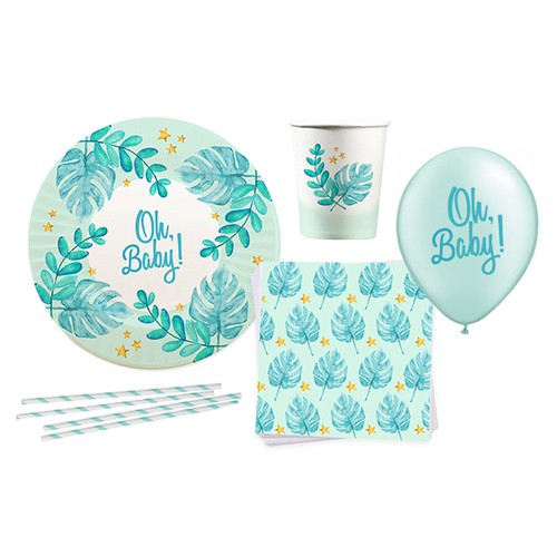 Boy artwork with the title 'Babyshower concept'