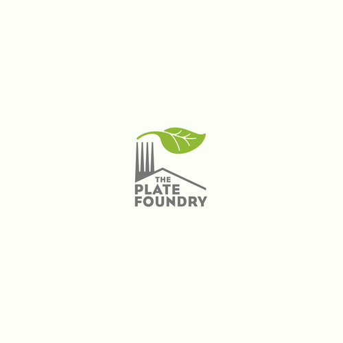 Factory design with the title 'The Plate Foundry vegetarian resource'