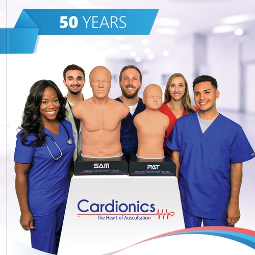 Clinic design with the title '2019 Cardionics Catalog'