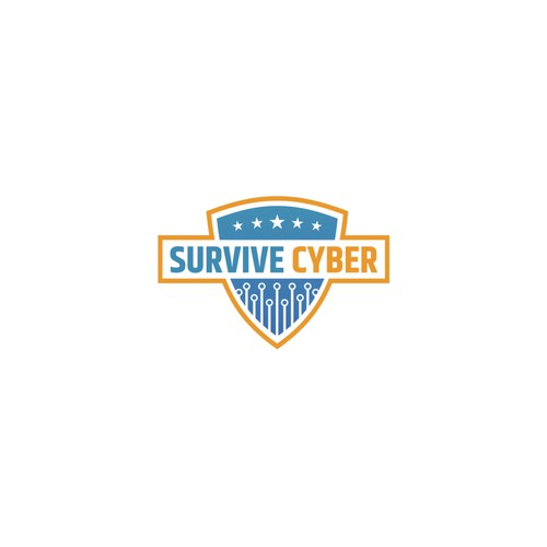 Security logo with the title 'Survive Cyber Logo Design'