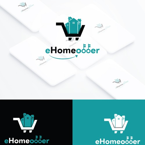 Home care logo with the title 'e home offer'