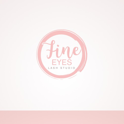 Gentle logo with the title 'Elegant & feminine logo design for lash studio'