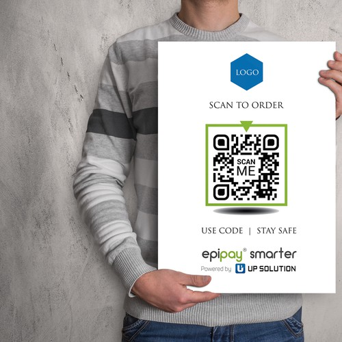 QR code design with the title 'Restaurant QR Code Display '
