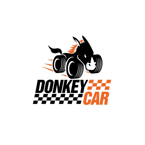 Donkey logo with the title 'Logo Design for Donkey Car'