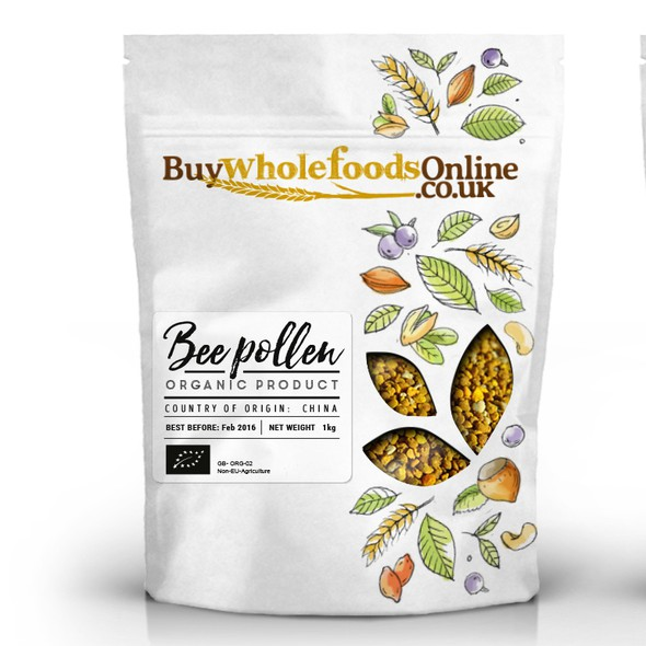 Organic food packaging with the title 'Fresh, clean and earthy new packaging for whole food products'