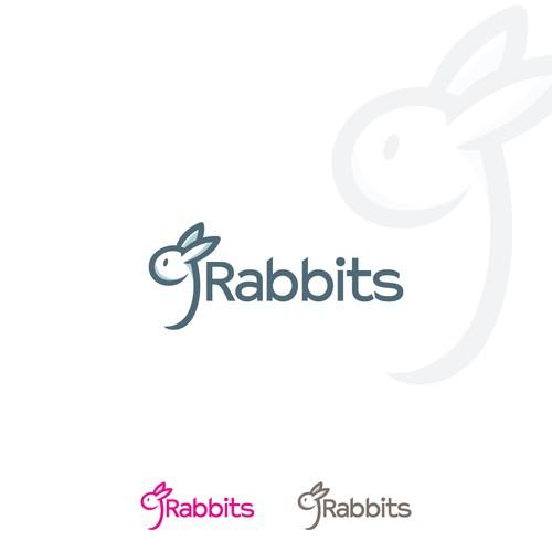 Rabbit logo with the title '9 Rabbits Logo'