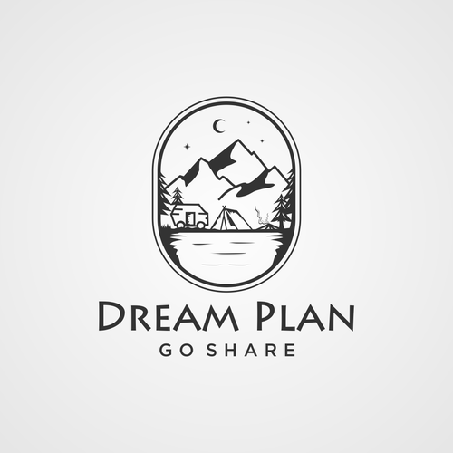 Caravan design with the title 'bold logo concept for DREAM PLAN'