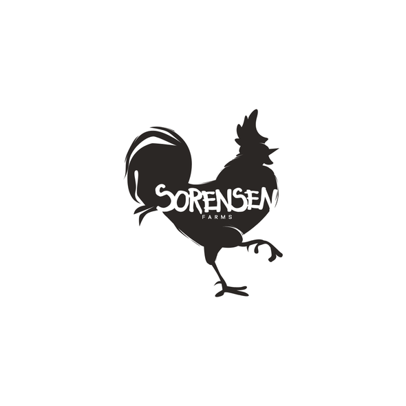 Chicken design with the title 'Farm logo'