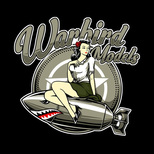 Pin-up girl logo with the title 'warbird'