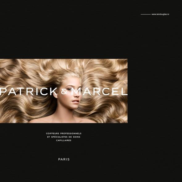 Salon design with the title 'Modern/classic mark for Paris-based salon'