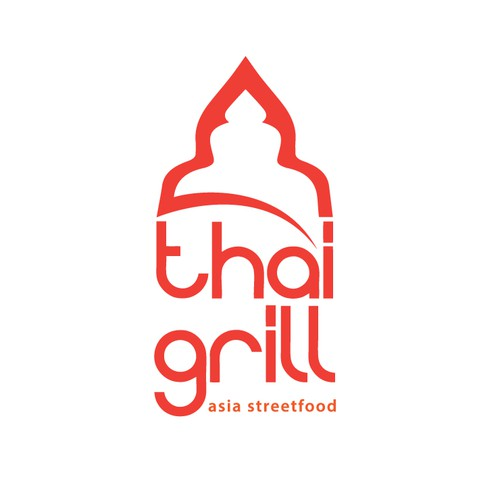 Thai design with the title 'New Food Brand! We need a Design/Logo for our Thai Grill Konzept'