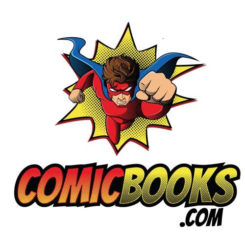 Comic logo with the title 'Comic Books logo'