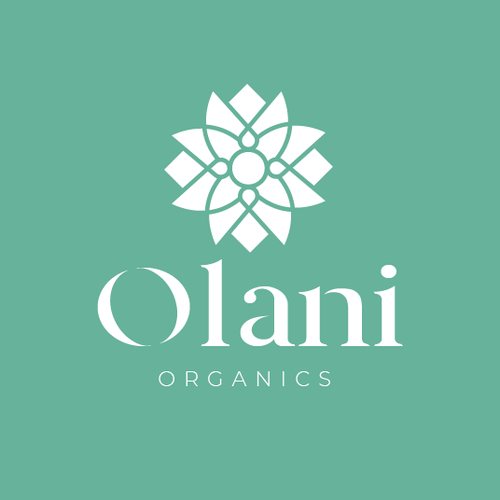 Facial logo with the title 'Olani Organics'