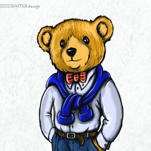 Bear design with the title 'bear character for real estate '