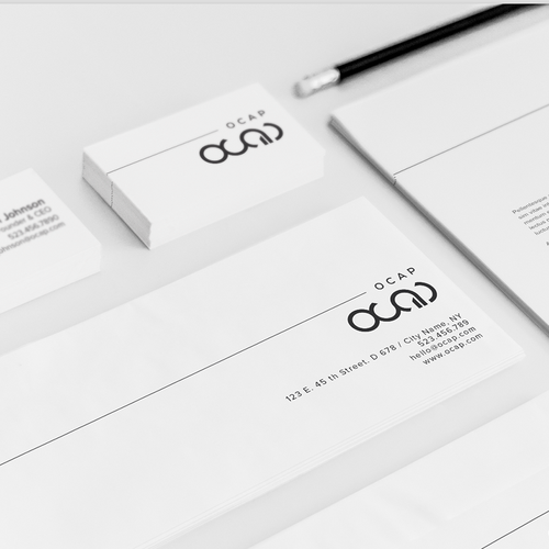 Growth brand with the title 'Modern logo & BIP for a financial group 'OCAP''