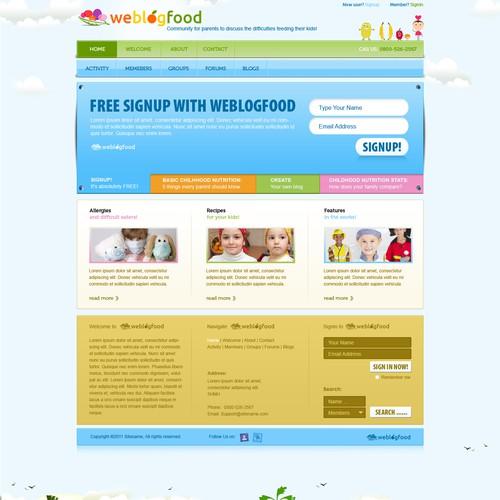 Community website with the title 'Website Design for We Blog Food'