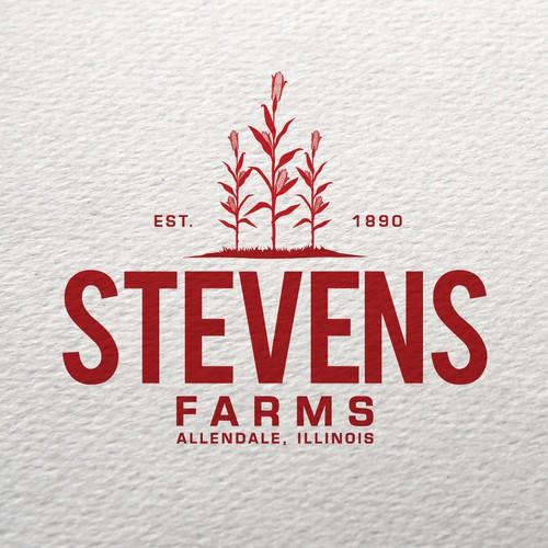 Family farm logo with the title 'Bold logo concept for Farms'