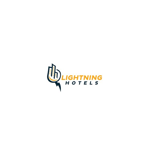 Lightning logo with the title 'Lightning hotels logo'