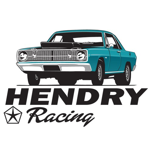 Black and blue logo with the title '2nd logo for a racing team'