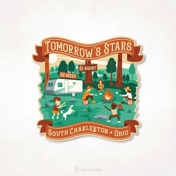 Emblem design with the title 'Tomorrow's Stars'