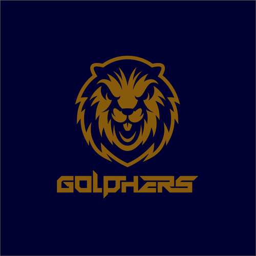 Golf club logo with the title 'Golphers : Fierce Gopher!'