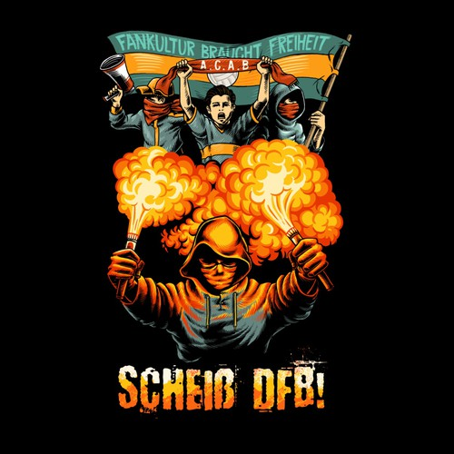 Football t-shirt with the title 'scheib dfb'