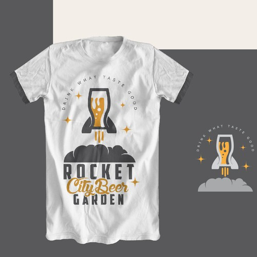 Beer t-shirt with the title 'Beer Rocket'