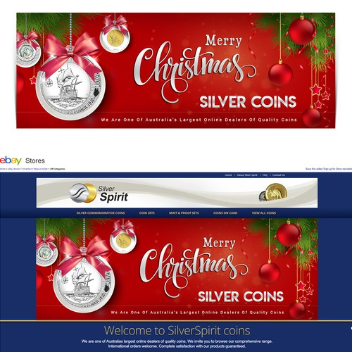Red and green design with the title 'Christmas web slider'