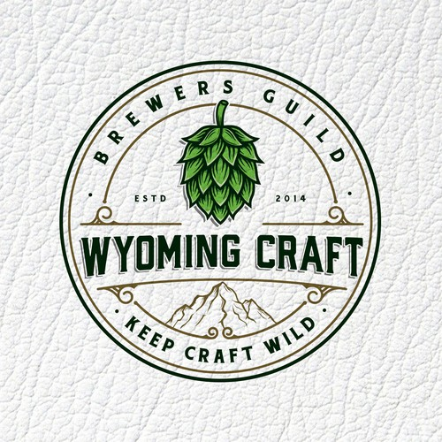 Ornament design with the title 'Wyoming Craft Brewers Guild'
