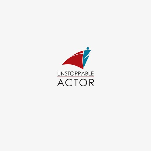 Casting logo with the title 'Logo for Unstoppable Actorthat (digital coaching classes for actors). '
