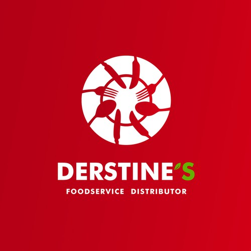 Distribution logo with the title 'Dynamic Unique Logo for Foodservice Distributor'