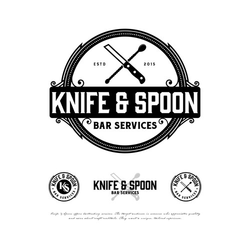 Bar and restaurant design with the title 'Knife & Spoon'