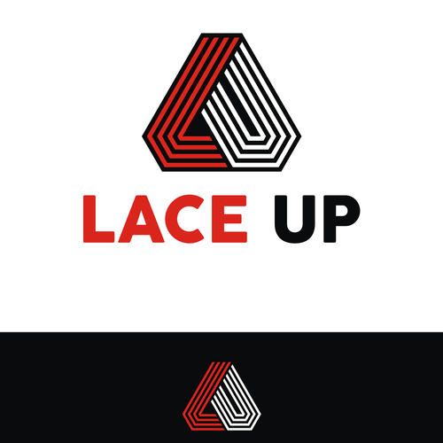 Sneaker design with the title 'Lace up'