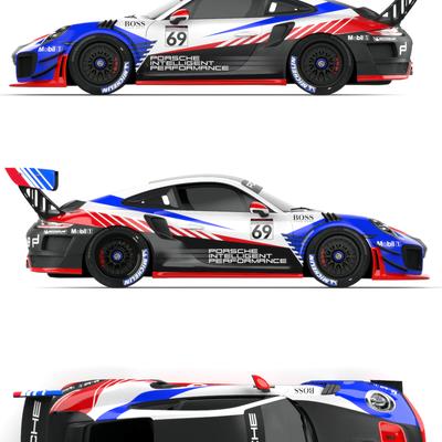 PORSCHE GT2RS Clubsport livery design