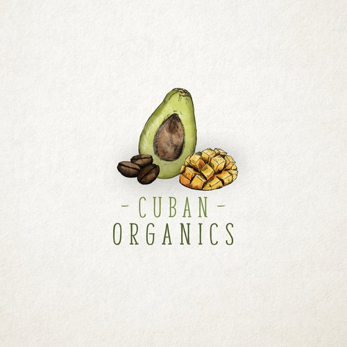 Avocado logo with the title 'ORGANICS'