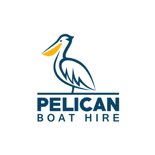 Pelican design with the title 'Logo for boat hire company'