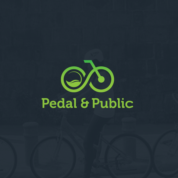 Eco design with the title 'Eco-friendly Logo Design for Pedal & Public'