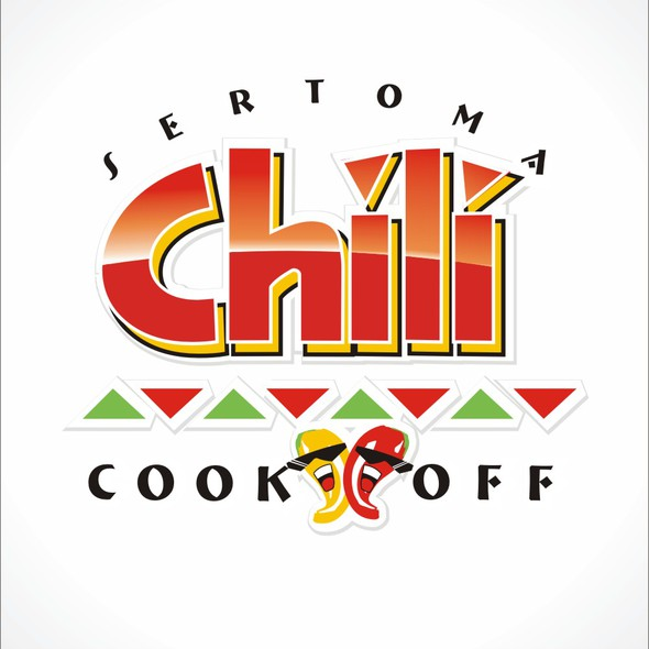 Chili pepper logo with the title 'Sertoma Chili Cook-off'