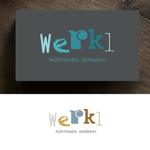 Workplace design with the title 'workspace logo THIS DESIGN IS AVAILABLE'