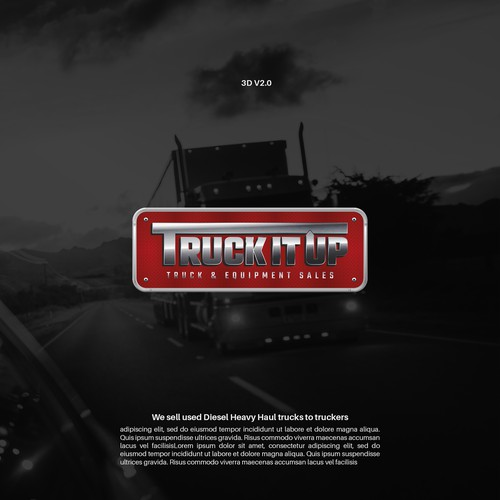 Trucking logo with the title 'Trucking Company Logo Design'
