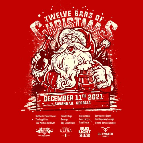 Christmas t-shirt with the title 'drunk santa'